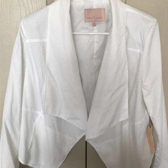 Gibson Latimer Jackets & Blazers - NWT Light weight white jacket